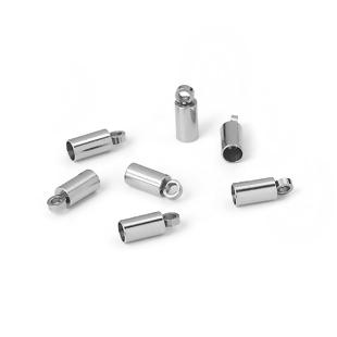 5 TERMINALES CAPUCHONES (interior 2.5mm) 8MM ACERO INOXIDABLE