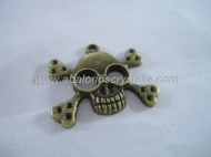1 CALAVERA BRONCE ANTIGUO 26x31 mm