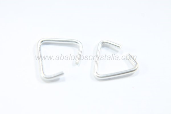 Anilla triangular abierta 8x7mm plata 925