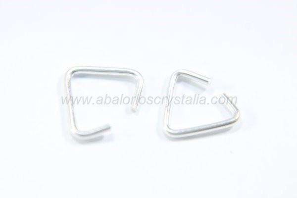 Anilla triangular abierta 8x7mm plata 925