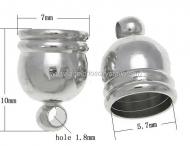 10 CAPUCHONES PLATA ANTIGUA CON ANILLA 7x10mm