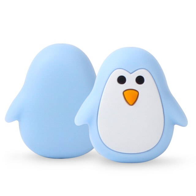 1 Pingüino silicona Azul 26mm