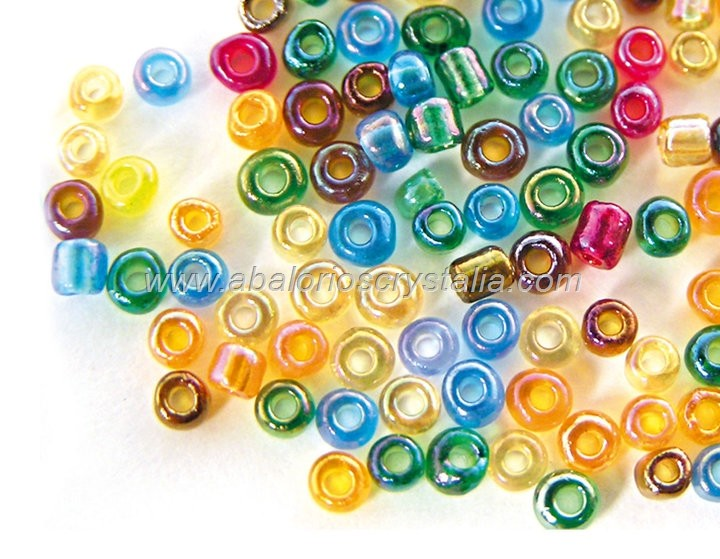 20 GR ROCALLA 6/0 (3.6 - 4mm) MIX DE COLORES AB