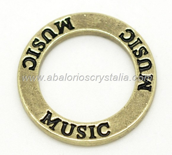 5 ANILLAS CONECTORAS Music DORADO 23mm