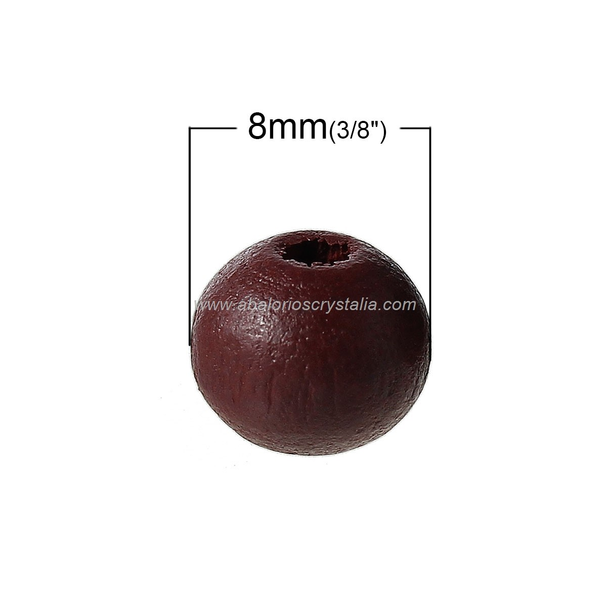 25 BOLAS DE MADERA MARRÓN 3, 8mm