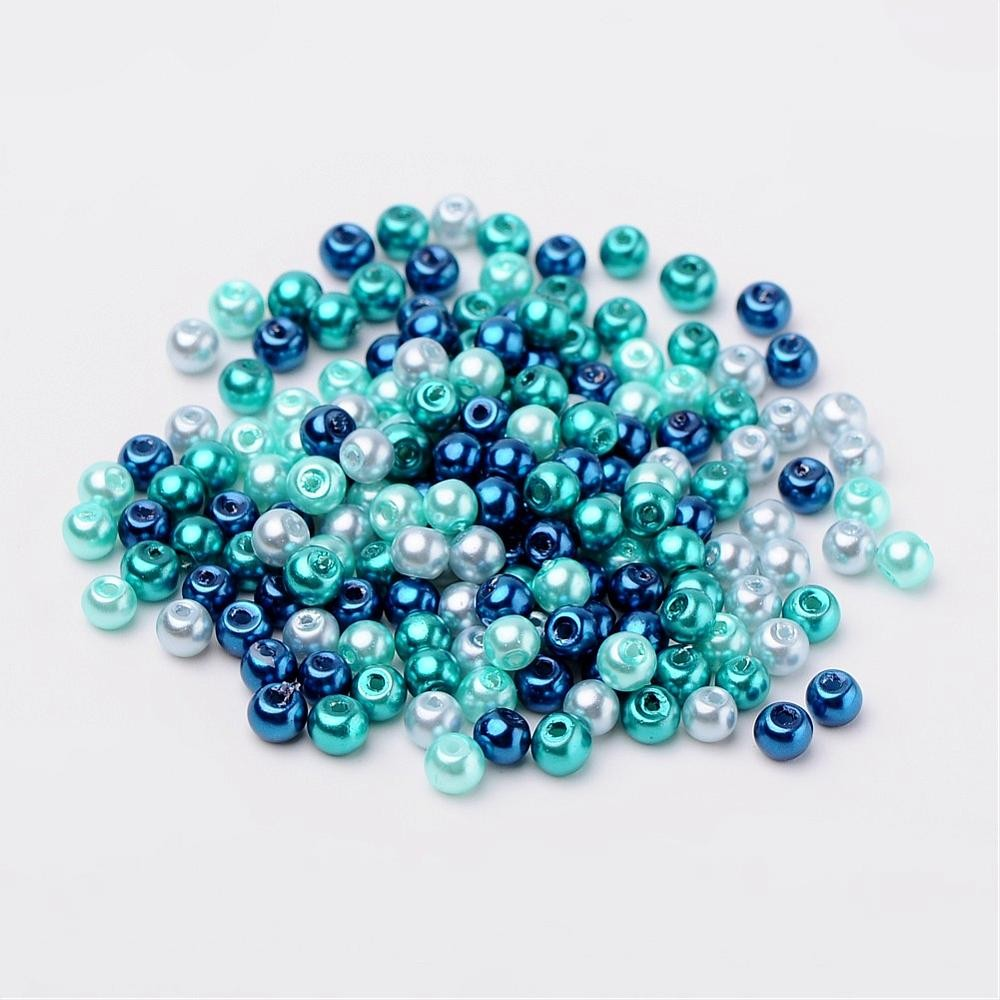 100 PERLAS DE CRISTAL 4mm MIX 3