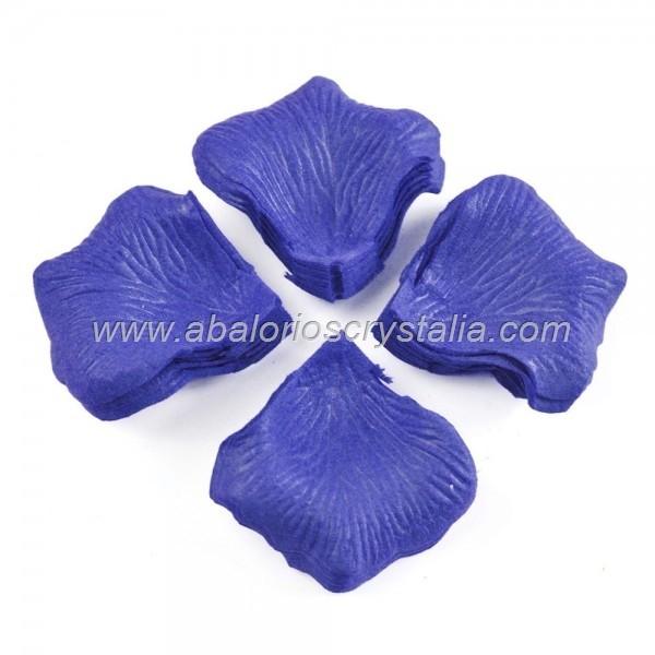 100 Pétalos de Rosa de tela 5x5cm Marino