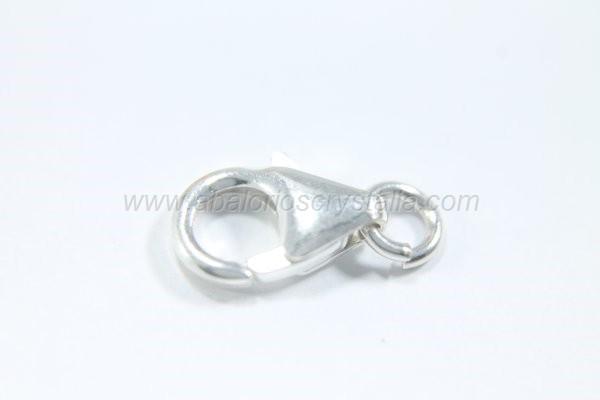 Mosquetón clásico 11x7 mm + anilla plata 925