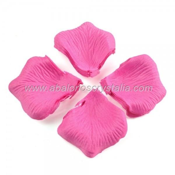 100 Pétalos de Rosa de tela 5x5cm Rosa 4