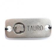 CONECTOR ZAMAK BAÑO PLATA Tauro 36x16mm
