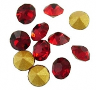 150 CHATONES DE CRISTAL COLOR ROJO (2 mm)