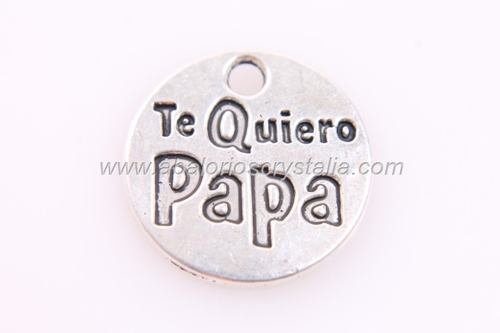 5 CHAPAS Te quiero papa ANTIGUA 20mm