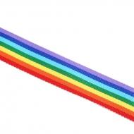 1 METRO DE CINTA ELÁSTICA ORGULLO LGTBI ARCOIRIS 10mm