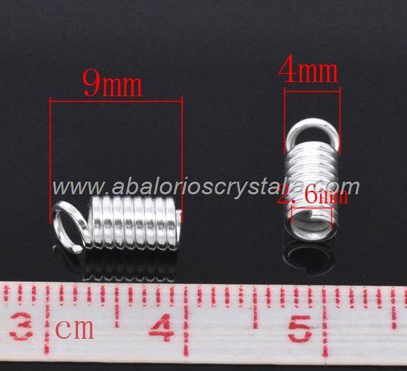 20 TERMINALES ESPIRAL 9x4mm PARA CORDÓN DE 2-2.5mm
