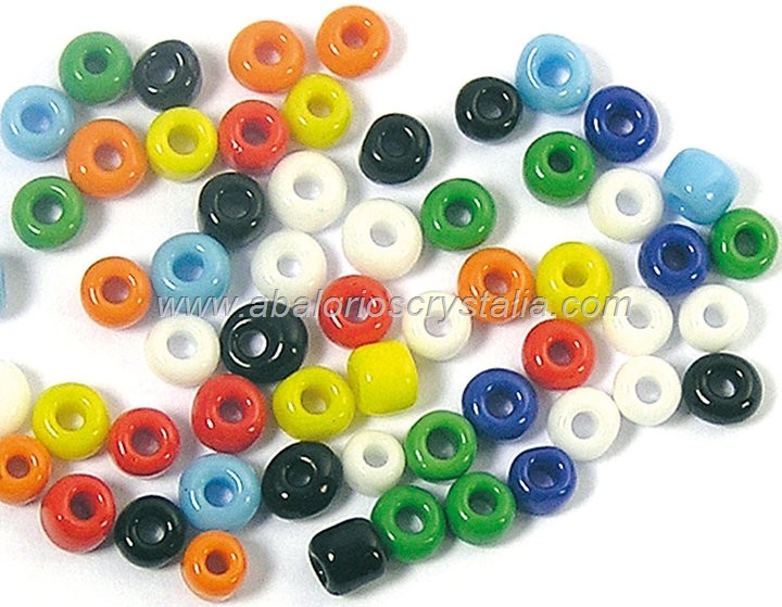 20 GR ROCALLA 6/0 (3.6 - 4mm) MIX DE COLORES OPACO
