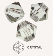20 TUPIS CRISTAL TIPO AUSTRIACO COLOR CRYSTAL 6MM