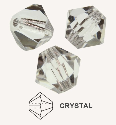 10 TUPIS CRISTAL TIPO AUSTRIACO COLOR CRYSTAL 8MM
