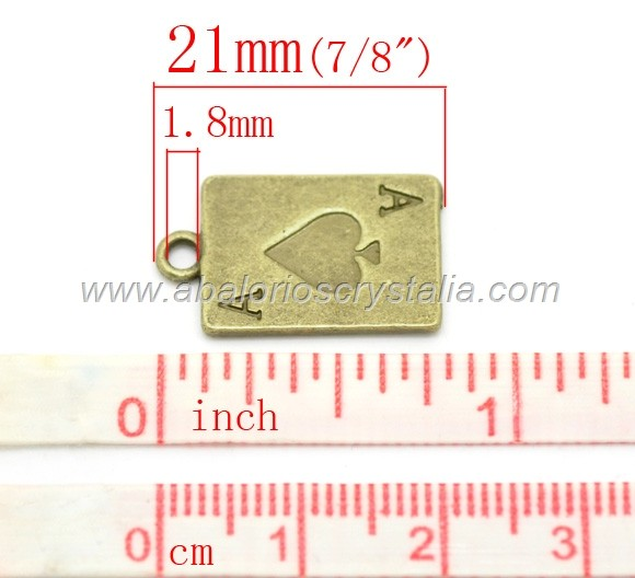 COLGANTE CARTA AS BRONCE 21x13mm