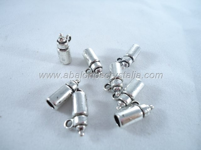 5 BIBERONES PLATA ANTIGUA 15 mm
