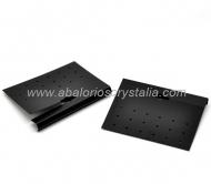 5 SOPORTES DE PLÁSTICO PARA PENDIENTES 7.5x5.9cm (negro)