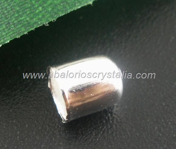 25 TERMINALES CAPUCHÓN PLATEADO 6x5mm