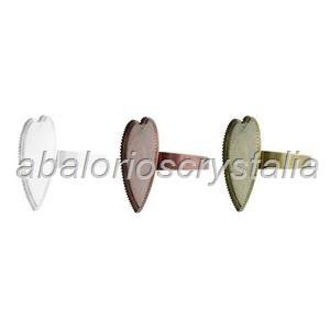 PACK 3 BASES DE ANILLO FORMA CORAZÓN 26x26(base 25 mm)