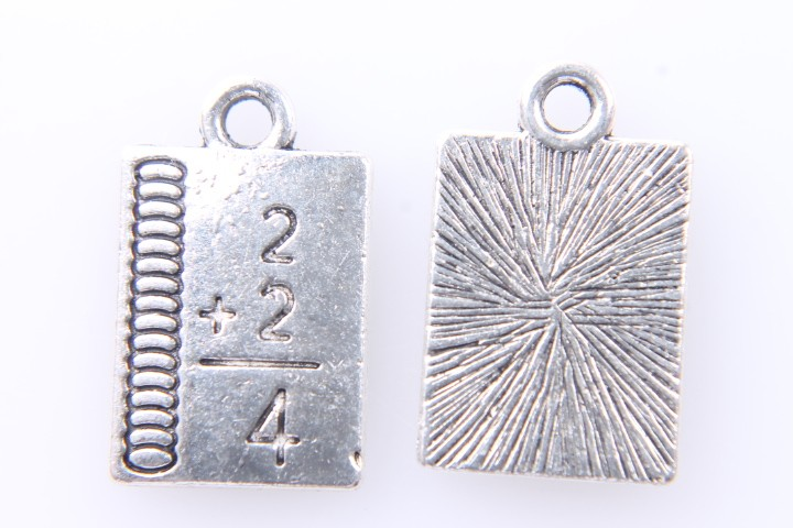 5 COLGANTES SUMA PLATA ANTIGUA 17x10mm