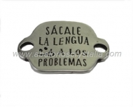 CONECTOR CHAPA ZAMAK BAÑO PLATA Sácale la lengua... 31x26mm