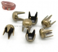40 MINI TACHUELAS REDONDAS BRONCE ANTIGUO 3mm