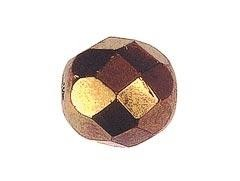 BOLA FACETADA CHECA COBRE 4mm (20 uds.)