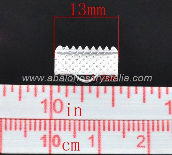 20 TERMINALES PLATEADOS PARA CINTA 13x8mm