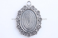 1 MARCO CAMAFEO FLORES PLATA ANTIGUA 40x29mm (base 25x18mm)