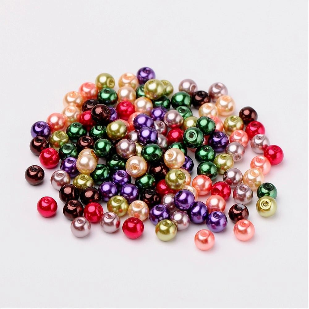 50 PERLAS DE CRISTAL 6mm MIX 6