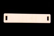 GRABADO PERSONALIZADO EN CONECTOR DE MADERA LISO RECTANGULAR 50x10mm
