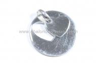 Colgante doble corazón calado 20mm + anilla plata 925