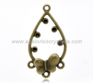 CONECTOR BRONCE MARIPOSA 1-3 AGUJEROS 37x19mm