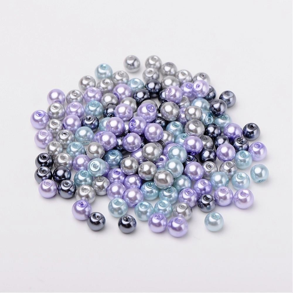 50 PERLAS DE CRISTAL 6mm MIX 13