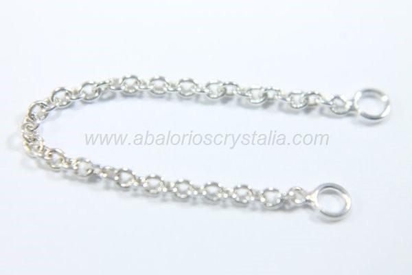 Cadenita extensora/seguridad 60mm plata 925 ml