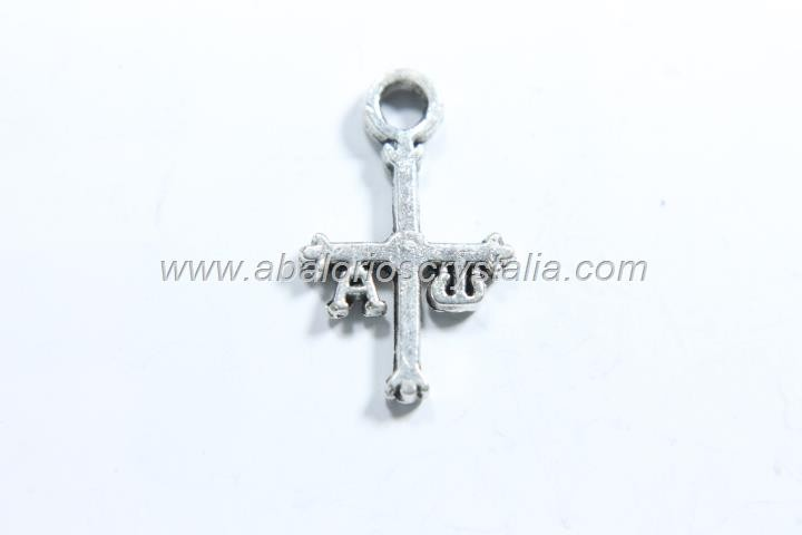 10 CRUCES ASTURIAS PLATA ANTIGUA 15X10mm