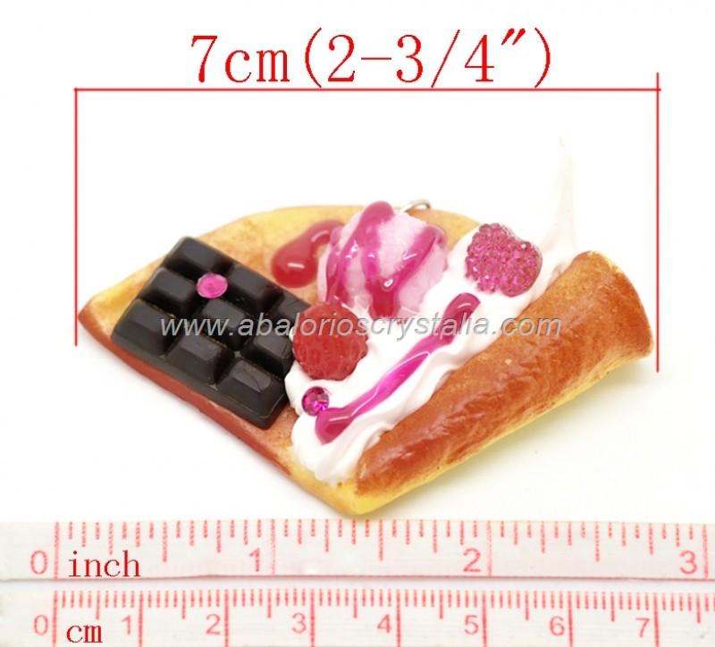 COLGANTE FORMA TORTITA 7x4.5cm