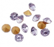 150 CHATONES DE CRISTAL COLOR LILA (2 mm)