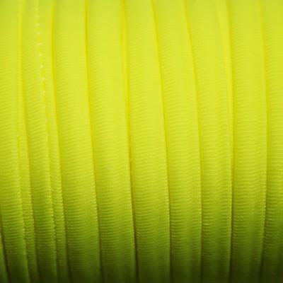 1 METRO DE CORDON DE LYCRA AMARILLO FLUOR 4mm