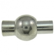 CIERRE PLATA ANTIGUA IMÁN 13x7mm (Apto 3 mm)