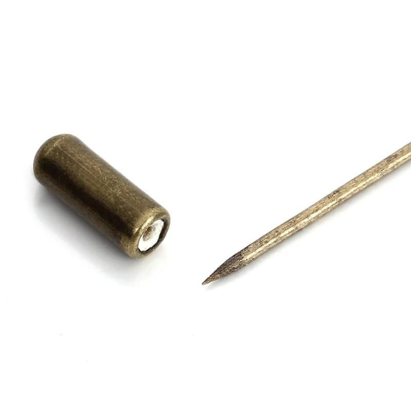 1 AGUJÓN BRONCE CON DISCO PARA PEGAR 60mm+ CAPUCHÓN