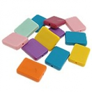 MIX DE 10 FICHAS RECTANGULARES 18x24x5.5mm
