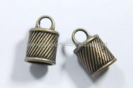 5 CAPUCHONES BRONCE CON ANILLA  15.5x10mm
