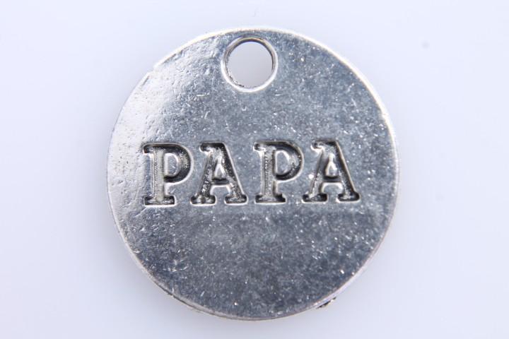 5 COLGANTES Papa PLATA ANTIGUA 20mm