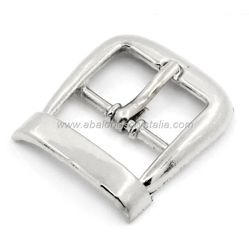 CIERRE HEBILLA RECTANGULAR PLATA ANTIGUA 26x23mm