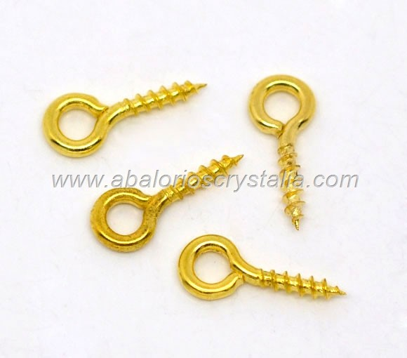 50 MINI ALCAYATAS O CANCAMOS DORADOS 10x4mm