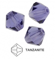 20 TUPIS CRISTAL TIPO AUSTRIACO COLOR TANZANITE 6MM